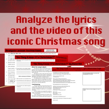 Do They Know Its Christmas Lyrics.Do They Know It S Christmas Music Video And Song Analysis