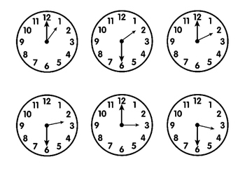 """Do You Have the Time?"" Telling Time to the Hour and Half Hour Clock Game"