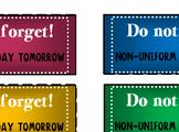 """""""Do not forget"""" stickers"""