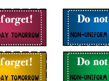 """Do not forget"" stickers"