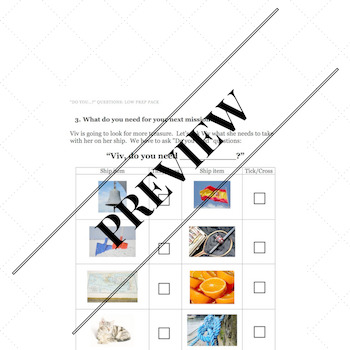 """Do you…?"" Questions: Low Prep Activity Pack (with Board Game)"