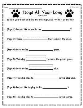 """""""Dogs All Year Long"""" Guided Reading Program Activities"""