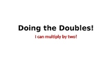 """Doing the Doubles"" power point for beginning learners: mu"