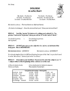 """Dolerse"" Worksheet"