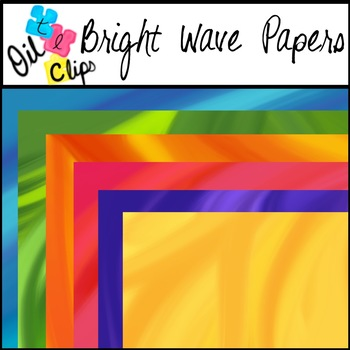 $$DollarDeals$$ Oil Papers - Bright Waves {BONUS clips included!!!}
