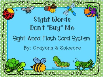 """Don't Bug Me"" Sight Words Bundle"