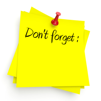 *Don't Forget!* Reusable Reminder Image for Proofreading Writing