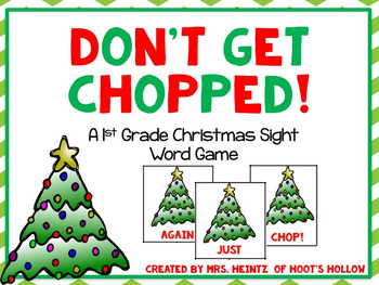 """""""Don't Get Chopped!"""": A 1st Grade Christmas Sight Word Activity"""