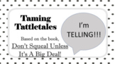 Don't Squeal Tattling Bullying SEL LESSON 5 Video + Worksheets PBIS READY TO USE