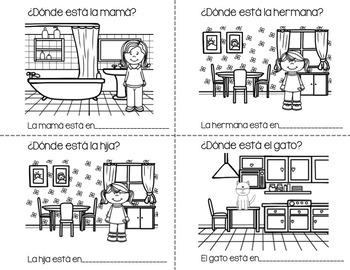¿Dónde Está la Familia en La Casa? Fill in the blanks booklet and reader