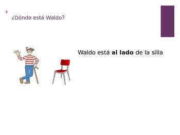 ¿Dónde está Waldo?-Prepositions of Location
