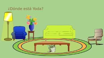 Preposition Practice ¿Dónde está Yoda?