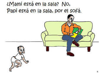 ¿Dónde está mi familia? Story/coloring book/activity to learn family in Spanish