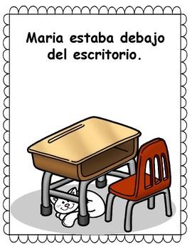 ¿Dónde está mi gata? - Spanish Positional Words Posters, Game, Color Sheets