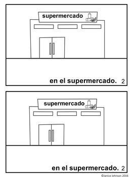¿Dónde estamos? Spanish Verb Estar Town Reader & Build-A-Book
