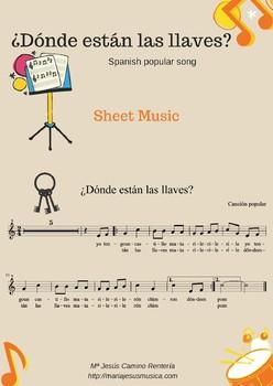 ¿Dónde están las llaves? Spanish popular song