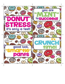 """Donut Stress"" Testing Treat Tags"