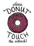 """Donut Touch"" Poster"