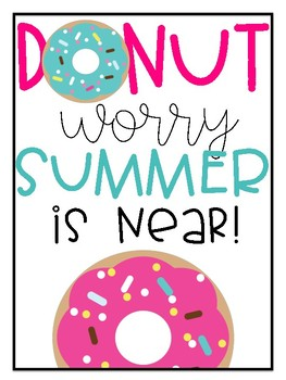 """""""Donut Worry"""" Poster"""