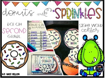 """""""Donuts & Sprinkles"""" [Dolch 2nd Grade Sight Words]"""