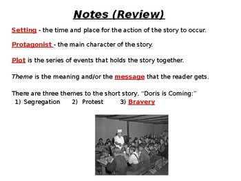 """Doris is Coming"" Close Reader Power Point Presentation"