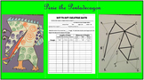 """Dot to Dot Polygon Creature "" Classifying Triangles Math and Art Project"