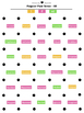 """""""Dots & Boxes"""" Regular Past Tense game boards"""