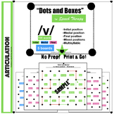 """""""Dots and Boxes"""" /v/ Articulation Activity - word level - all positions"""