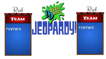 (Double Dare Jeopardy Themed) Game: Back to School Get to Know You Activity