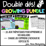 {Double Dés: The Growing Bundle!} Games to learn French thematic vocabulary