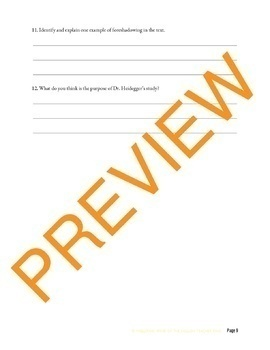 """""""Dr. Heidegger's Experiment"""" by Nathaniel Hawthorne Close Reading Questions"""