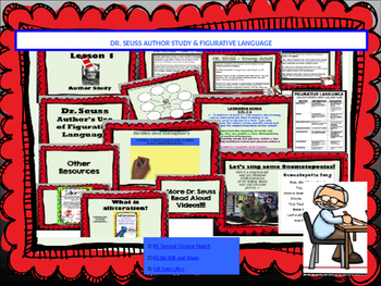 **Dr. Seuss Author Study** and **Figurative Language** Interactive Powerpoint