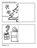 """Draw Half"" Christmas Coloring Sheet {MrsBrown.Art}"