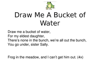"""""""Draw Me A Bucket of Water"""" Folk Song"""