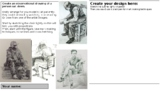 """Draw someone seated"" drawing tasks suitable for home learning"