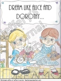 """""""Dream Like Alice and Dorothy"""" classroom poster"""