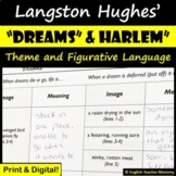 """Dreams"" and ""Harlem"" Langston Hughes Poem Activities"