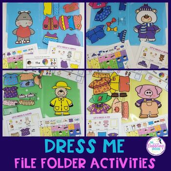 """Dress Me"" Seasonal File Folder Activities For Speech Therapy"