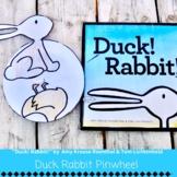 """Duck! Rabbit!"" Duck or Rabbit Pinwheel Read Aloud Craft Book Opinion Activity"