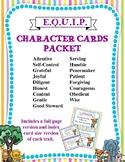 {E.Q.U.I.P} Character Cards Packet