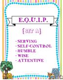 "{E.Q.U.I.P} Mini Set ""A"" - Character Cards, Copywork, and"