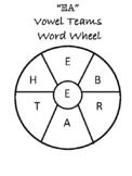 """""""EA"""" Vowel Teams Word Wheel"""