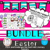 **EASTER MATH AND LITERACY CENTERS WITH BONUS WRITING AND ART ACTIVITIES**