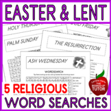 {EASTER WORD SEARCH} {EASTER BIBLE ACTIVITIES} {EASTER RELIGIOUS}