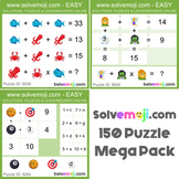 ** EASY ONLY ** - Solvemoji 150 Puzzle Mega Pack - With Solutions
