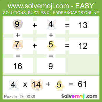 ** EASY ONLY ** - Solvemoji 50 Grid Emoji Puzzles - With Solutions