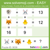 ** EASY ONLY ** - Solvemoji 50 Grid Emoji Puzzles - With S
