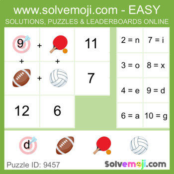 ** EASY ONLY ** - Solvemoji 50 Word Emoji Puzzles - With Solutions