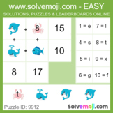 ** EASY ONLY ** - Solvemoji 50 Word Emoji Puzzles - With S