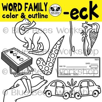 """ECK"" Word Family Clip Art"